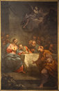 Bergamo - Paint of Last supper of Christ in Duomo Stock Photography