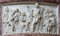 Bergamo - Relief of St. John the Baptist by predication in the church San Alessandro della Croce Royalty Free Stock Photos