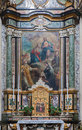 Bergamo side altar in the church san alessandro della croce on january italy Royalty Free Stock Images