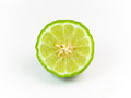 Bergamot half on white background Stock Image