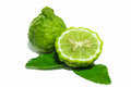 Bergamot isolated white background Royalty Free Stock Photo