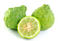Bergamot isolated white background fresh Royalty Free Stock Photos