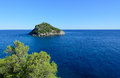 Bergeggi island savona italy view of Royalty Free Stock Image