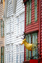 Bergen houses facades. Stock Photos