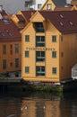 Bergen norway st june converted warehouse overlooking harbour in Stock Images
