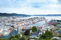 Bergen view at evening norway Royalty Free Stock Image