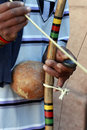 Berimbau stringed instrument of angolan origin santana de parnaiba sp brazil august adopted in brazil and now one the symbols Royalty Free Stock Photography