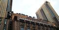 Berjaya times square in kl tall building architecture detail over blue sky kuala lumpur malaysia Stock Photos