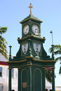 Berkeley memorial clock the in st kitts west indies Stock Photo