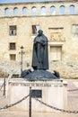 Berlanga de duero statue of fray tomas de berlanga soria province castile and leon spain Stock Image