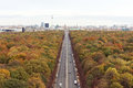 Berlin autumn in from pictured from the victory column Royalty Free Stock Photo