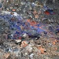 `Berlin blue`, a poisonous cyanide compound, hydrocyanic acid, in the subsoil of the construction site for residential buildings Royalty Free Stock Photo