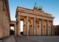 Berlin brandenburg gate at dawn brandenburger tor in germany Royalty Free Stock Image