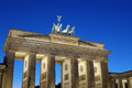 Berlin brandenburg gate at dusk frontal view of in a beautiful summer day germany europe Stock Photos