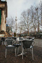 Berlin cafe on the street winter Royalty Free Stock Photo