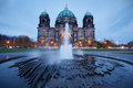 Berlin cathedral germany at dusk Royalty Free Stock Image