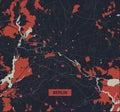 Berlin city map - Streets of Berlin - Germany. Street map