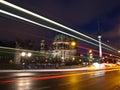 Berlin Dom and TV Tower at nightfall Stock Photos