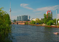 Berlin, Germany, City centre and Spree river Royalty Free Stock Images