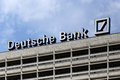 Berlin germany the deutsche bank logotype on building Royalty Free Stock Images