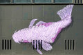BERLIN, GERMANY/EUROPE - SEPTEMBER 15 : Fish mural in a street i