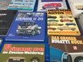 Motoring books Royalty Free Stock Photo