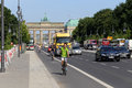 Berlin germany on the street near brandenburer gate in summer day Royalty Free Stock Photos