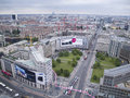 Berlin leipziger strasse germany september looking along straße from above the platz Royalty Free Stock Photos