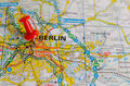 Berlin on map Royalty Free Stock Photo
