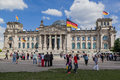 Berlin parliament the facade of the bundestag in the of germany building with its glass dome Royalty Free Stock Photo