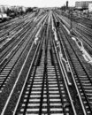 Berlin railways from top of a bridge