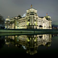 Berlin reichstag at night Stock Photography