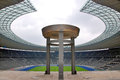 Berlin s olympia stadium germany may and the olympic cauldron was originally built for the summer olympics in the southern Stock Photography