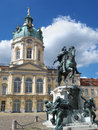 Berlin schloss charlottenburg palace germany view of with statue of friedrich wilhelm i of brandenburg in a beautiful summer day Stock Photos