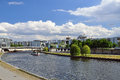 Berlin, Spree river and government buildings. Germany