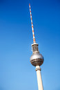 The berlin tv tower against blue sky television known also as fernsehturm a clear Stock Images