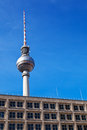 Berlin TV Tower from Alexanderplatz Stock Photos