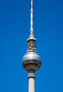 Berlin tv tower the on the alexanderplatz in Stock Photography