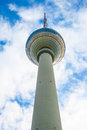Berlin tv tower with beautiful clouds Stock Photography