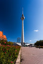Berlin tv tower the famous of Royalty Free Stock Image