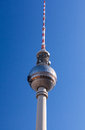 Berlin tv tower the famous of Royalty Free Stock Photo