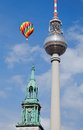 Berlin tv tower fernsehturm in germany Royalty Free Stock Photos