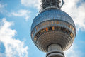 Berlin tv tower in front of a blue sky Royalty Free Stock Photos