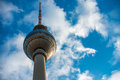 Berlin tv tower in front of a blue sky Royalty Free Stock Photo