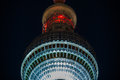 Berlin tv tower at night Royalty Free Stock Image