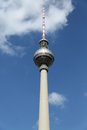Berlin tv tower view at the Royalty Free Stock Images
