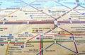 Berlin U-Bahn map Royalty Free Stock Photo