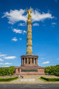 Berlin victory column monument in tiergarten park berlin beautiful view of famous at great star square public mitte district Stock Images