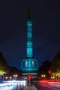 Berlin victory column in the original illumination germany october annual festival of lights Stock Photo