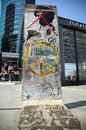 Berlin Wall fragment Royalty Free Stock Image